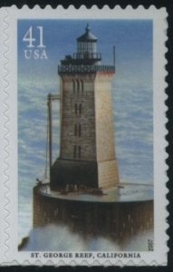 US Stamp Gallery >> St. George Reef Lighthouse, California