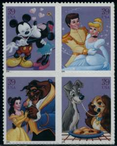 US Stamp Gallery >> Disney characters