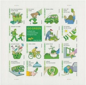 US Stamp Gallery >> Go Green