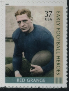 US Stamp Gallery >> Red Grange