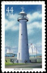 US Stamp Gallery >> Biloxi Lighthouse
