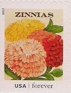 US Stamp Gallery >> Zinnias