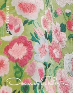 Pink, white and gray floral fabric pattern