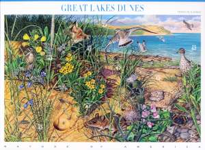 US Stamp Gallery >> Great Lakes dunes
