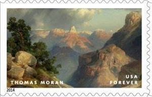 www.usstampgallery.com >> US Postage Stamp >> Thomas Moran - Hudson River School