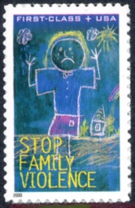 US Stamp Gallery >> Child & Stop Family Violence