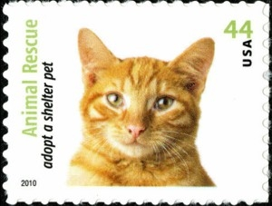 US Stamp Gallery >> Orange Tabby cat