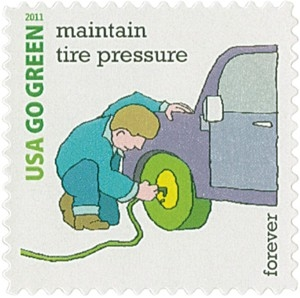 US Stamp Gallery >> Maintain Tire Pressure