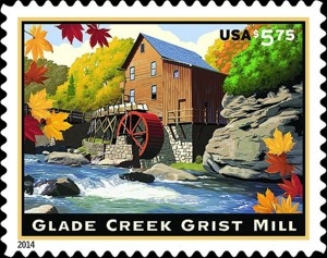 US Stamp Gallery >> Glade Creek Grist Mill