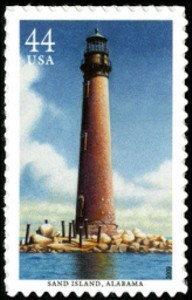 US Stamp Gallery >> Sand Island Lighthouse