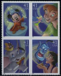 www.usstampgallery.com >> US Postage Stamp >> Disney characters
