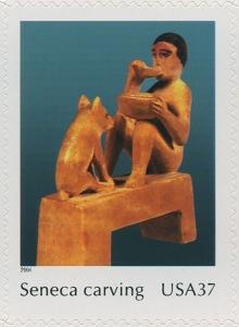 US Stamp Gallery >> Seneca carving