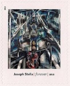 US Stamp Gallery >> Brooklyn Bridge, by Joseph Stella