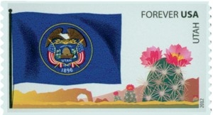 US Stamp Gallery >> Utah flag