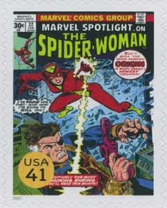 www.usstampgallery.com >> US Postage Stamp >> Cover of Marvel Spotlight on The Spider-Woman #32