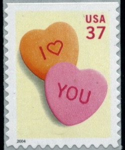 www.usstampgallery.com >> US Postage Stamp >> Candy hearts