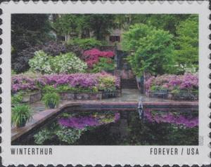 US Stamp Gallery >> Winterthur Garden