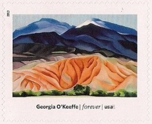 US Stamp Gallery >> Black Mesa Landscape, New Mexico - Out Back of Marie's II, by Georgia O'Keeffe