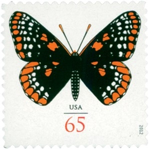 US Stamp Gallery >> Baltimore Checkerspot