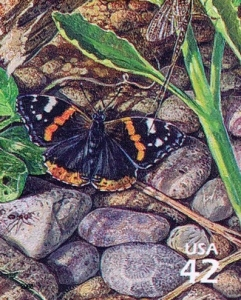 US Stamp Gallery >> Red admiral butterfly