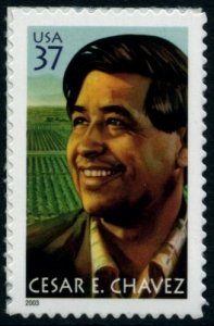 US Stamp Gallery >> Cesar E. Chavez