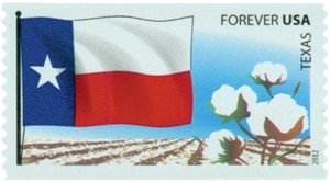 US Stamp Gallery >> Texas Flag