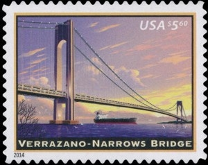 US Stamp Gallery >> Verrazano-Narrows Bridge