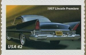 US Stamp Gallery >> 1957 Lincoln Premiere