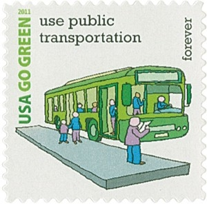 US Stamp Gallery >> Use Public Transportation