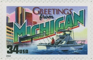 US Stamp Gallery >> Michigan