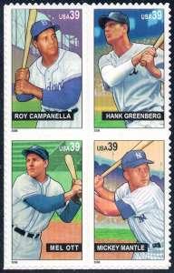 US Stamp Gallery >> Baseball sluggers