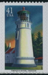 US Stamp Gallery >> Umpqua River Lighthouse, Oregon
