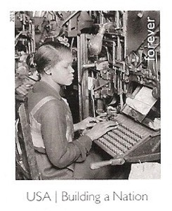 US Stamp Gallery >> Linotype Operator