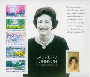 US Stamp Gallery >> Lady Bird Johnson