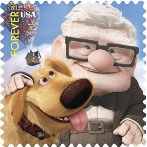 US Stamp Gallery >> Carl Fredricksen & Dug