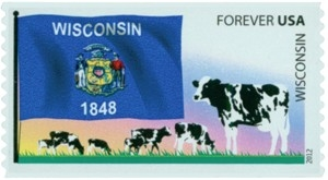 www.usstampgallery.com >> US Postage Stamp >> Wisconsin Flag