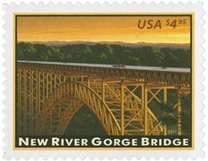 US Stamp Gallery >> New River Gorge Bridge