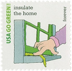 US Stamp Gallery >> Insulate the Home