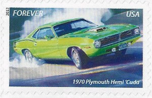 US Stamp Gallery >> 1970 Plymouth Hemi Barracuda