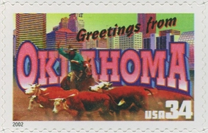 US Stamp Gallery >> Oklahoma