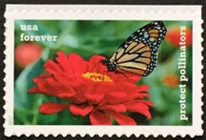 US Stamp Gallery >> Monarch & Zinnia