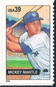 US Stamp Gallery >> Mickey Mantle