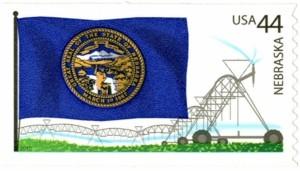 US Stamp Gallery >> Nebraska Flag