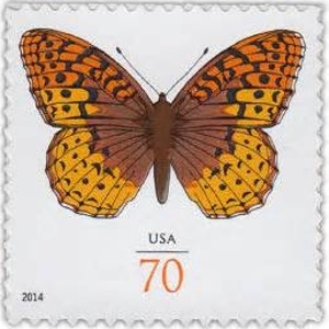 US Stamp Gallery >> Great-Spangled Fritillary
