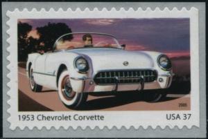 US Stamp Gallery >> 1954 Chevrolet Corvette