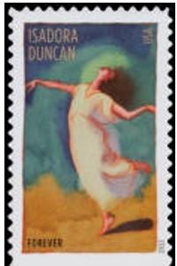 US Stamp Gallery >> Isadora Duncan
