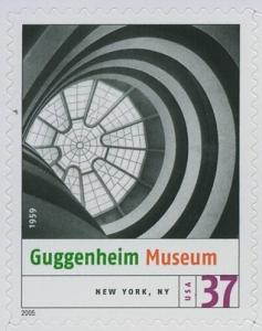 US Stamp Gallery >> Guggenheim Museum, New York