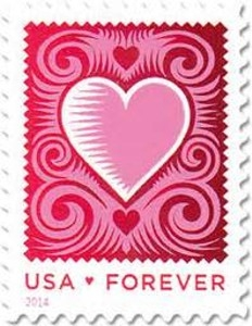 US Stamp Gallery >> Love: Cut Paper Heart
