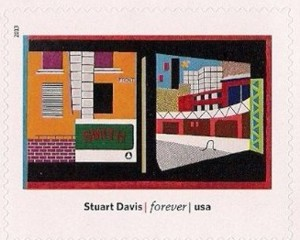 US Stamp Gallery >> House and Street, by Stuart Davis