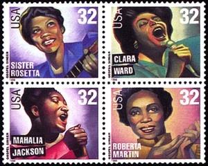 US Stamp Gallery >> American Music Series - Gospel Singers